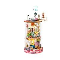 DS002 블루미하우스 (DIY Glass Miniature Dollhouse) 로보타임