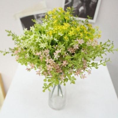 파릇파릇한 지치꽃 인테리어 조화꽃장식(3color)