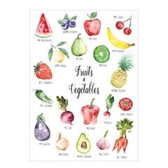 과일야채포스터 유아학습 인테리어포스터 A2사이즈