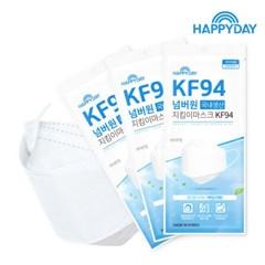 [해피데이]KF94 넘버원지킴이 마스크 100매