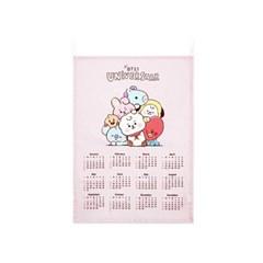 BT21 스케치패브릭캘린더 핑크C83616