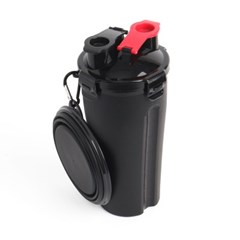 강아지 휴대용 애견물통(블랙)/물통+사료통+밥그릇