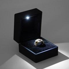 LED 쥬얼리 반지 케이스(블랙)/ 선물박스 반지보관함