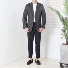봄 남자 스탠다드핏 투버튼 글렌체크 썸머 싱글자켓
