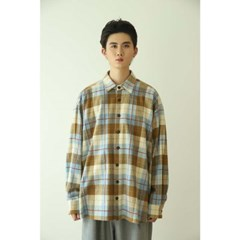 [2020AW] NO.39 Oversized check shirt 'BEIGE'