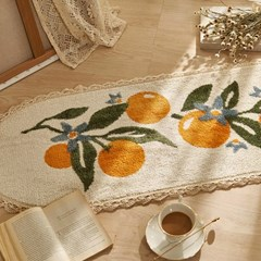 오렌지리프 레이스 소프트 주방매트