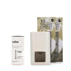 [rohe] 퓨리파잉 아로마테라피세트- 에센셜오일 램프 티라이트