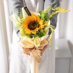 한송이해바라기꽃다발 40cmP 조화 꽃다발 선물 FMBBFT