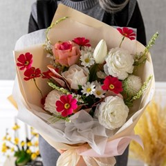 샤르망로즈꽃다발 65cmP 조화 꽃다발 선물 FMBBFT
