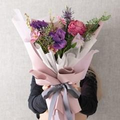 딥퍼플믹스꽃다발 55cmP 조화 꽃다발 선물 FMBBFT