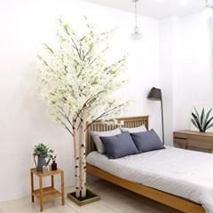 인조나무 인테리어 조화 2대 라일락나무 240cm 화이트_(2315041)