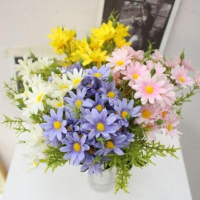 미니 구절초 데이지 야생화 들꽃조화장식(4color)