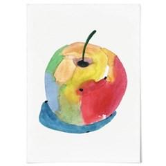 패브릭 포스터 F339 인테리어 과일 풍수 액자 행운 사과