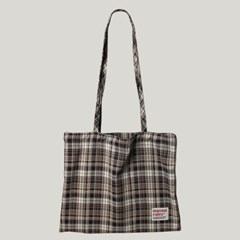 [마스마룰즈] Check pattern eco bag _ Brown