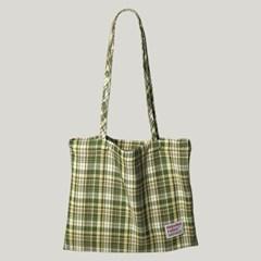[마스마룰즈] Check pattern eco bag _ Green