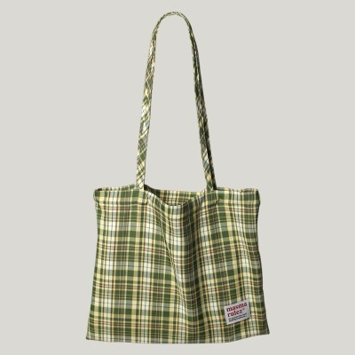 [마스마룰즈] Check pattern eco bag _ Green