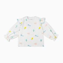 러플 볼륨 소매 티셔츠 ID1CL210G
