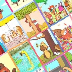 [이부] 동물마을 스토리텔링 카드 / 3세이상
