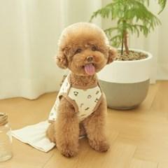 동물친구들 강아지 실내복 (크림)
