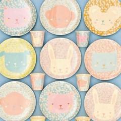 덴마크 유아식기 라이스 큐티동물접시20cm 유아컵(소) 2p SET 택 1
