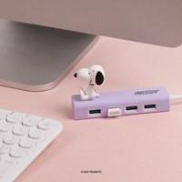 피너츠 스누피 4포트 USB 3.0 피규어 허브