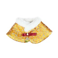 Premium Hanbok Fur Cape - Gold