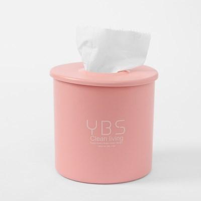 리빙홈 원형 휴지케이스(핑크)/ 두루마리보관함