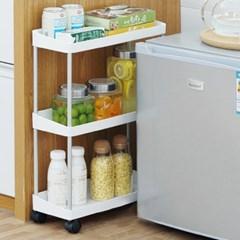 냉장고 틈새수납장 이동식 바뀌달린 틈새 수납장 3단 4단
