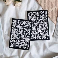 카디마 알파벳 씰 스티커 (블랙)