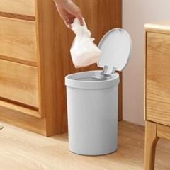 원터치 푸시형 휴지통(8L) 주방 거실쓰레기통