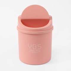 리빙홈 스윙 미니 휴지통(핑크)/ 탁상용 작은쓰레기통