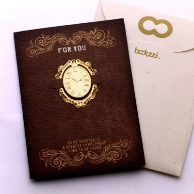 북마크 카드 (미니) 엔틱 시계