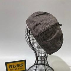 무지 기본 블랙 연베이지 데일리 패션 베레모 모자
