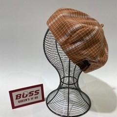 체크 블랙 벽돌 데일리 꾸안꾸 패션 베레모 모자