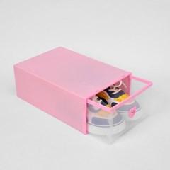 슈즈온 서랍형 신발정리함(소) (핑크) DIY 신발수납함