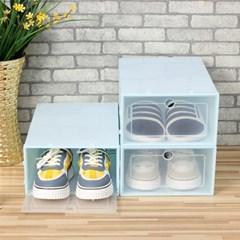 슈박스 신발정리함 3p세트(대) (블루)/ 신발수납장