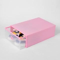 슈즈온 서랍형 신발정리함(대) (핑크)/ DIY 슈케이스