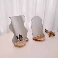 아크릴 거울 2type, 아치형 물결 비정형 화장대