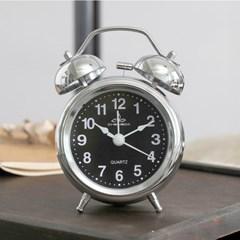 실버 유광 해머벨 탁상시계(블랙) / 알람시계