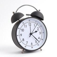 베이직 해머벨 탁상시계(블랙) / 아날로그 알람시계