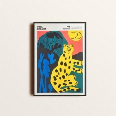 디어 치타 리소 포스터 (A3)