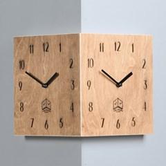 코너의 재발견 타임데코 올드브라운 코너 벽시계