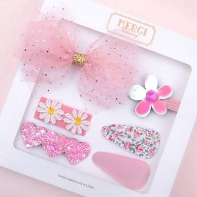 메르시밴드 핑크드림 아동 헤어핀 선물세트(6P)