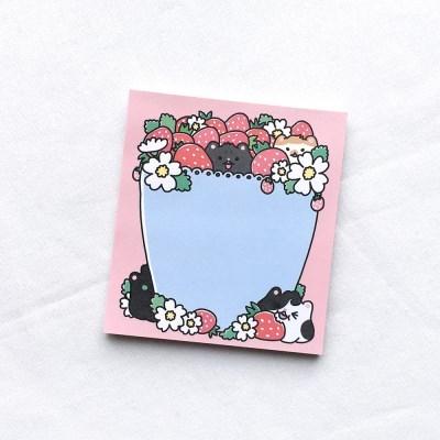 미야오 딸기 떡메모지(반권)