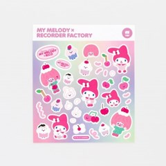 MY MELODY x RECORDER FACTORY STICKER - CHERRY PARTY BUBBLE