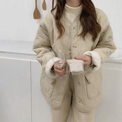 겟잇미 양털 안감 데일리 패딩조퍼