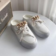 JM-946(U) 골드체인 스니커즈 키높이 뮬 블로퍼 신발_(2527589)