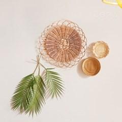 라탄 월데코 큰꽃잎 코스터 매트 A 40cm_T67