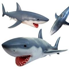 소프트 애니멀랜드 상어 (대형)-바다생물 상어장난감