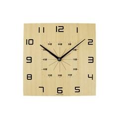 네모 스터디 교육용 우드벽시계_(1545360)